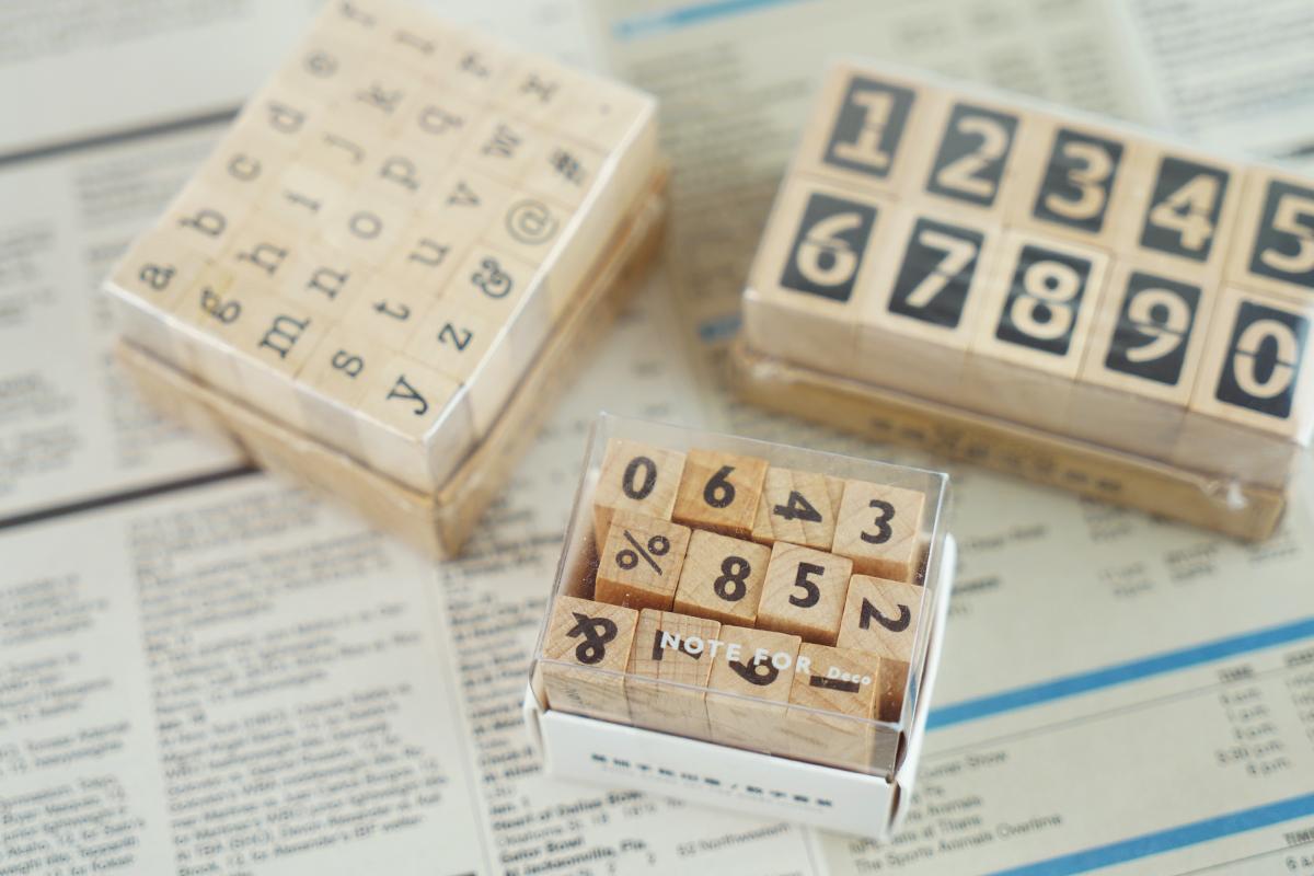 数字・アルファベットのスタンプ