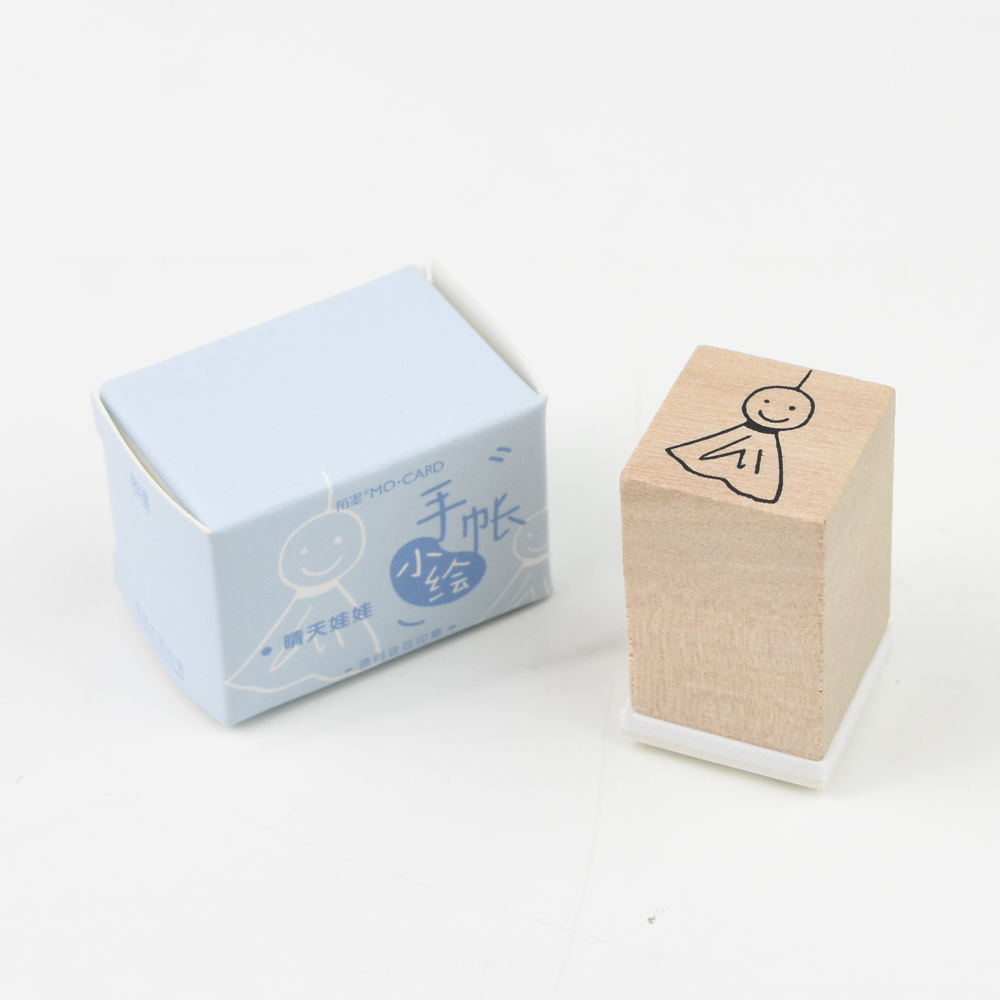 MO・CARD(陌墨) WOODEN STAMP スタンプ 手帳小絵 てるてる坊主 MMK09C072