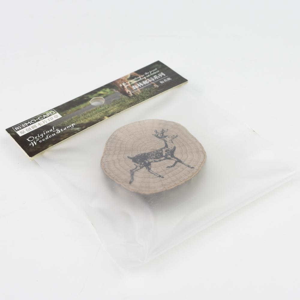 MO・CARD(陌墨) WOODEN STAMP スタンプ 森林(鹿)MMK09C139