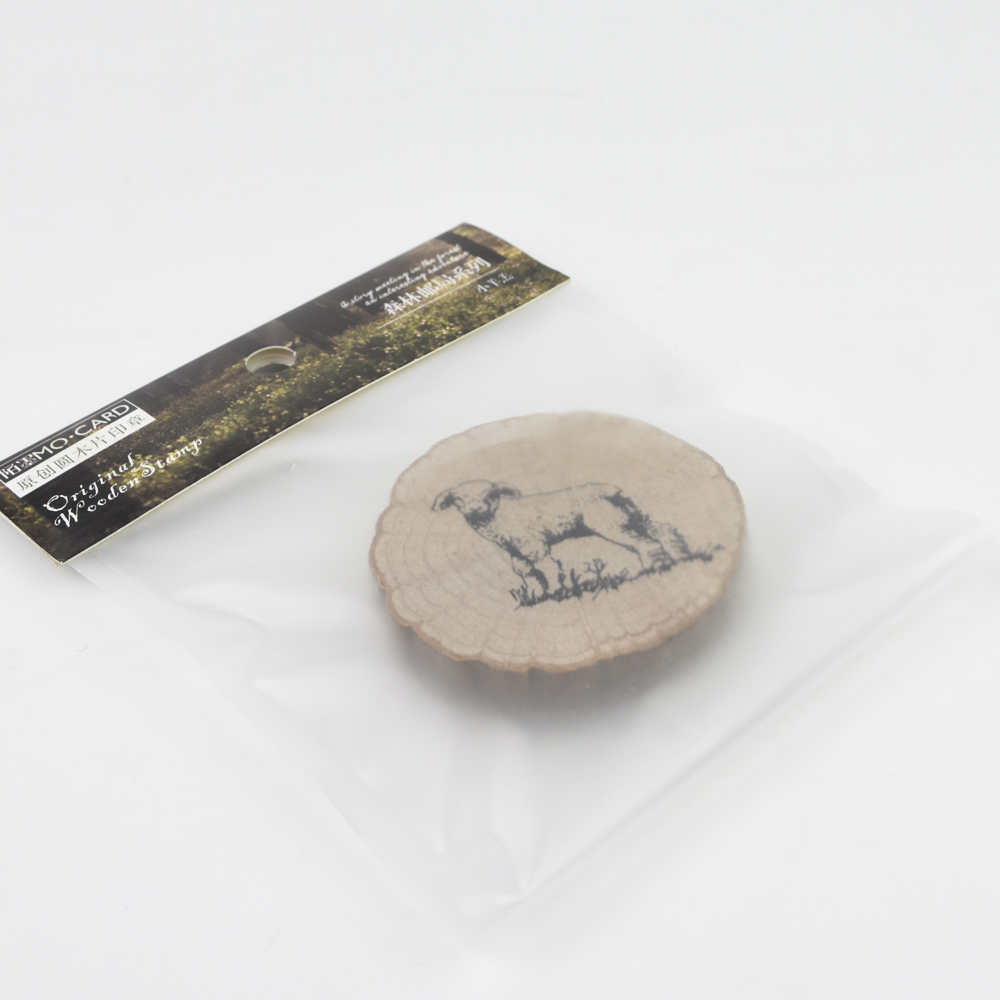【SALE】MO・CARD(陌墨) WOODEN STAMP スタンプ 森林(ひつじ)MMK09C128