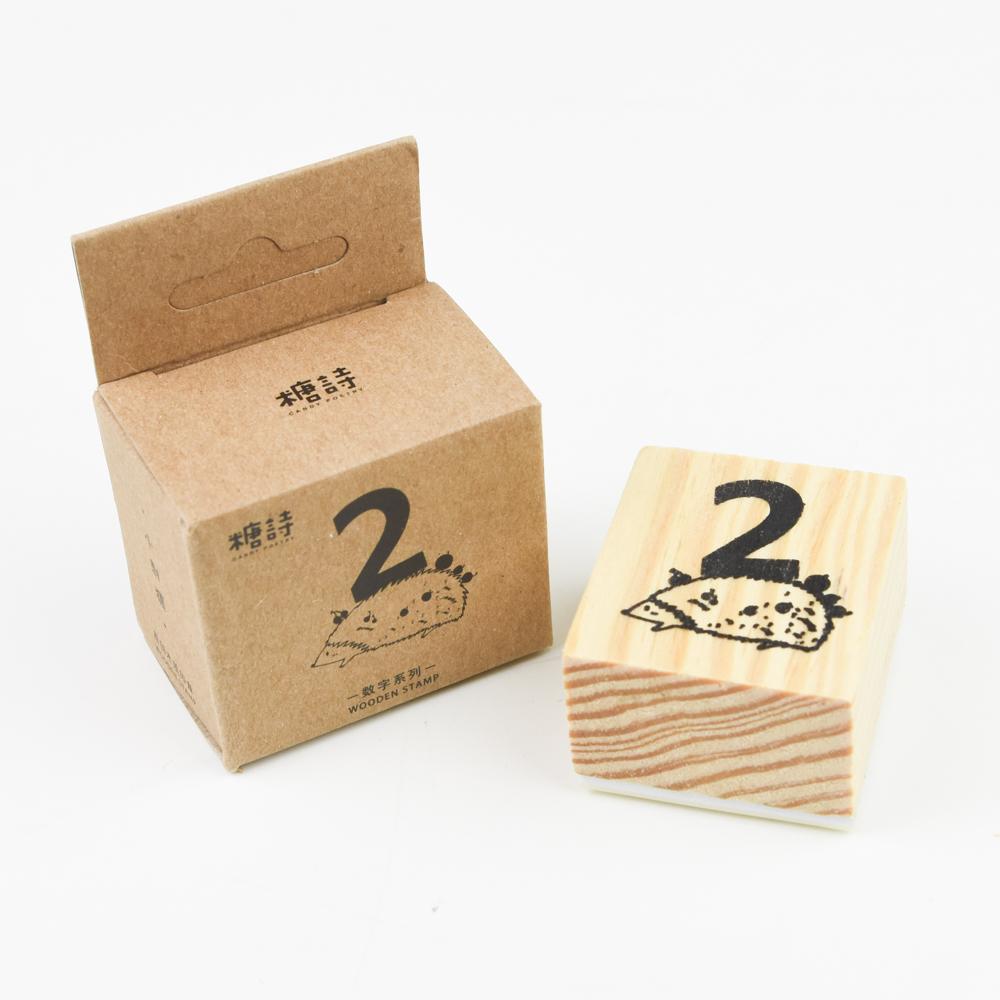 【SALE】糖詩 WOODEN STAMP 数字系列・2 TS06B038