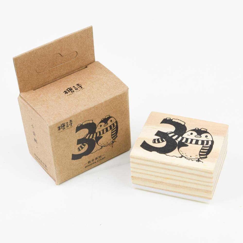 糖詩 WOODEN STAMP 数字系列・3 TS06B039