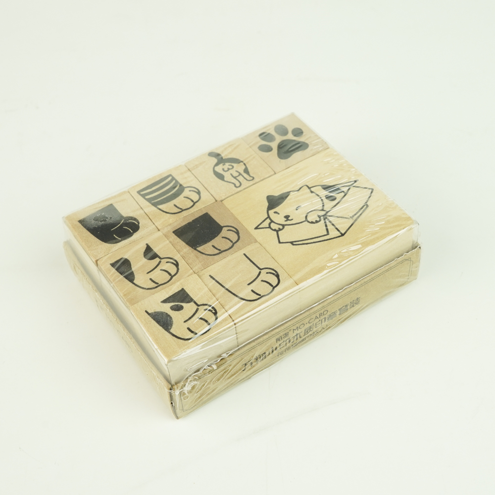 MO・CARD(陌墨) WOODEN STAMP スタンプセット猫 MMK09C099