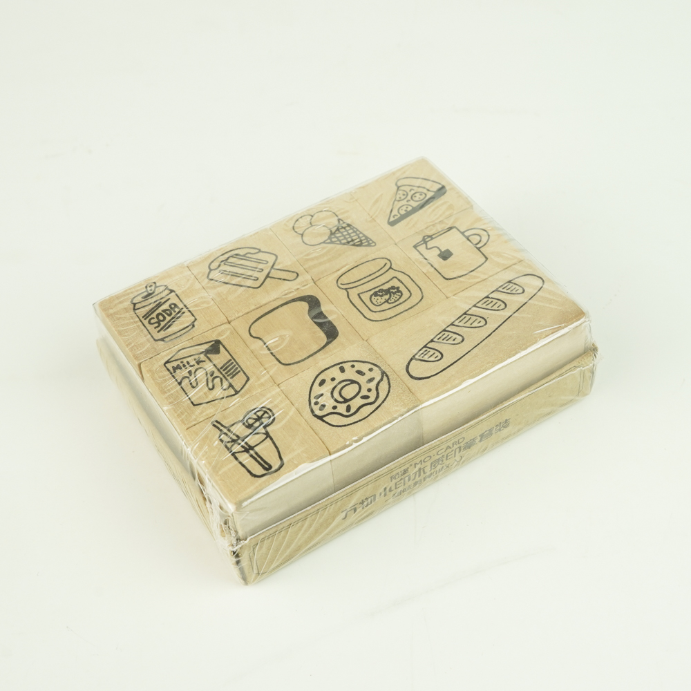 MO・CARD(陌墨) WOODEN STAMP スタンプセット美食 MMK09C107