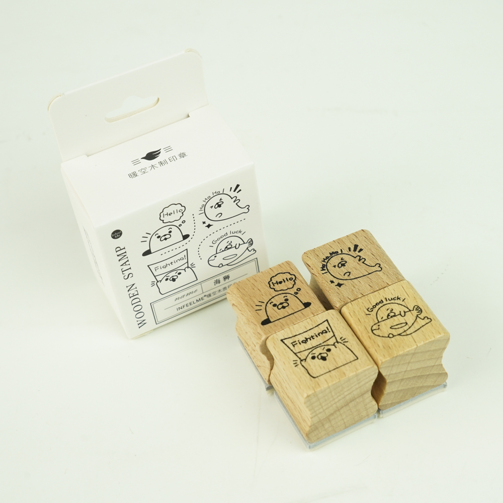 In feel me-wooden stampset あざらし YZ-4941