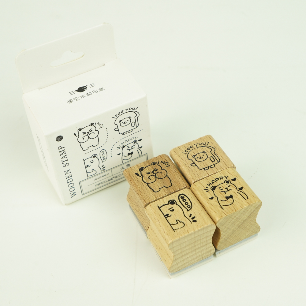 In feel me-wooden stampset くま YZ-4944