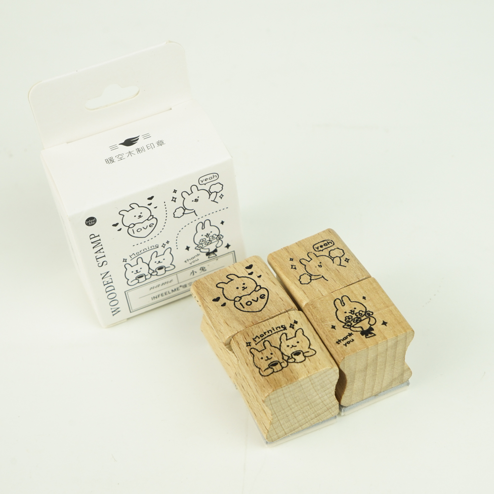 In feel me-wooden stampset うさぎ YZ-4943