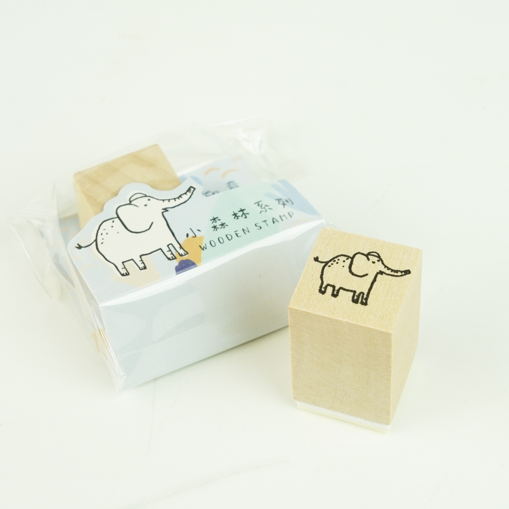 MO-CARD(陌墨) WOODEN STAMP スタンプ ぞうMMK09B120