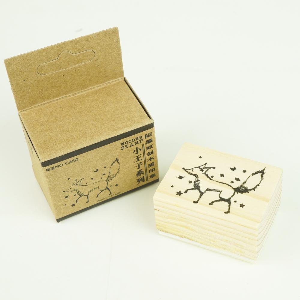 MO-CARD(陌墨) WOODEN STAMP スタンプ きつね MMK09B041