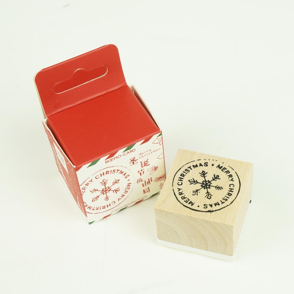 クリスマスのスタンプ MO・CARD (陌墨)雪の結晶 MMK09B133