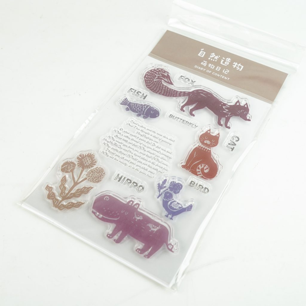 動物たちのクリアスタンプ  SIMNO(芯陌) DIARY OF CONTENT SI-2985
