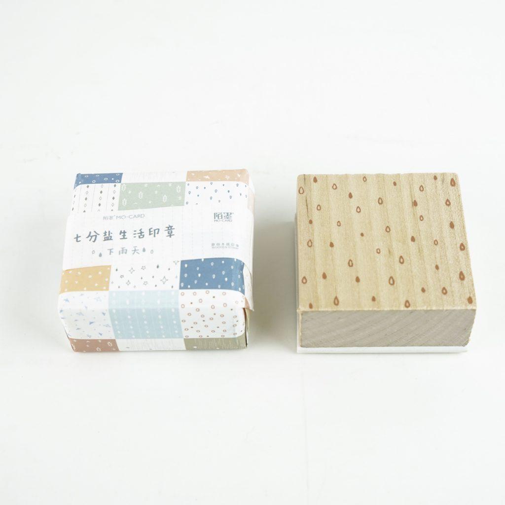 お天気のスタンプ MO・CARD (陌墨)スタンプ 生活印章  雨 MMK09C190