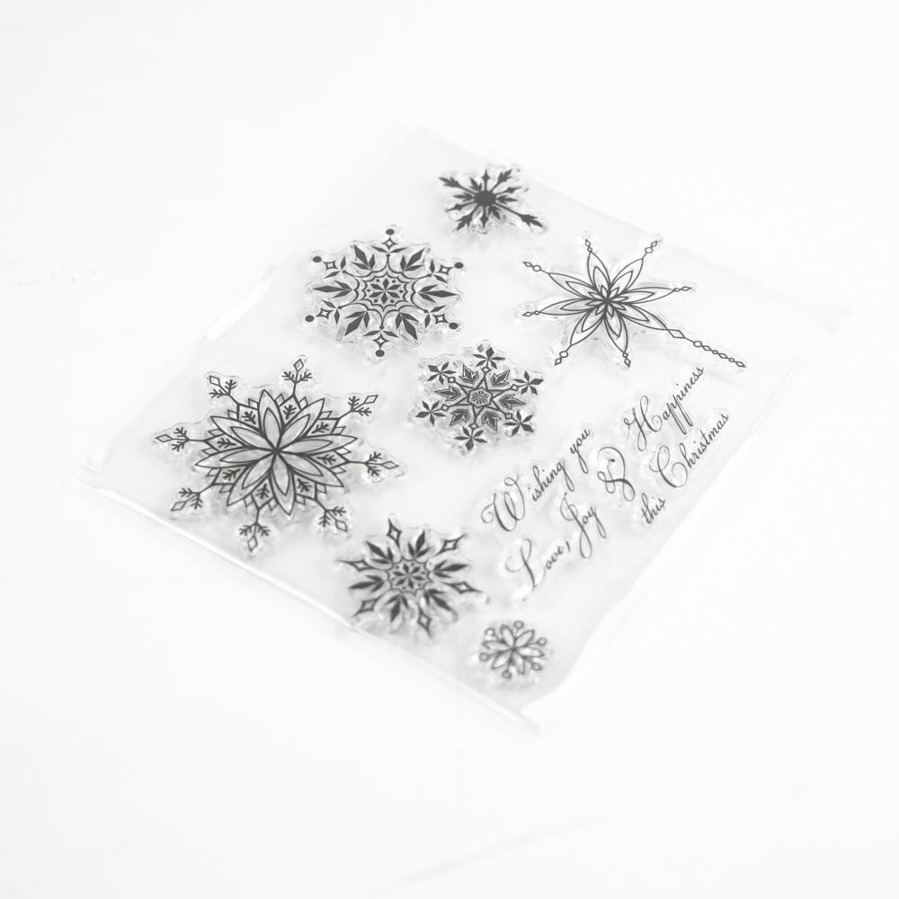 雪の結晶のクリアスタンプ