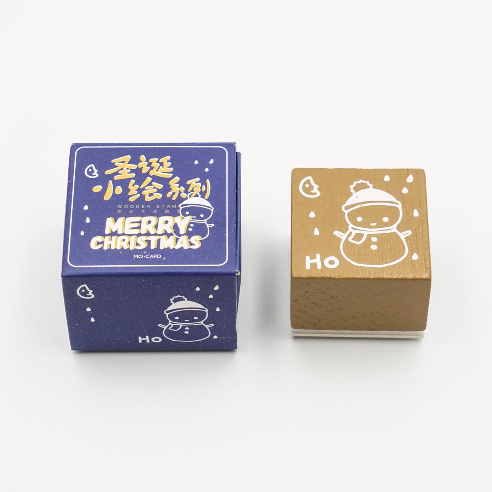 クリスマスのスタンプ MO・CARD (陌墨)雪だるま MMK09C216