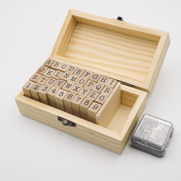 数字とアルファベットのスタンプBOX AtoZ