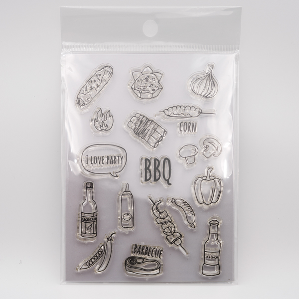 BBQのクリアスタンプ Fun & Joy Z2401-4