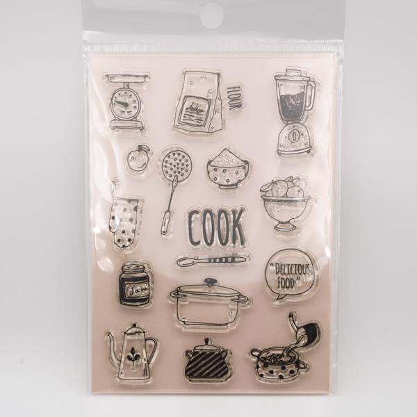 料理COOKのクリアスタンプ Fun & Joy Z2401-3