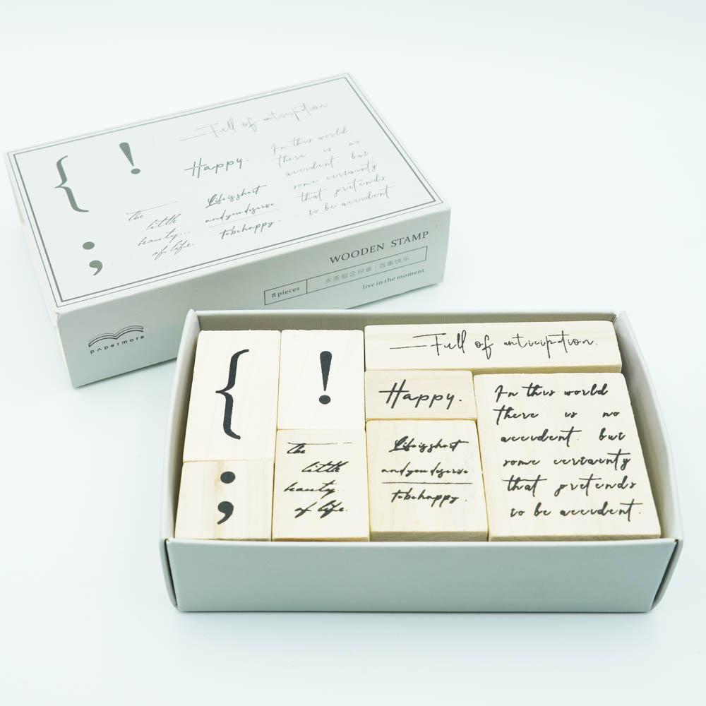 おしゃれなスタンプセット papermore 8pieces PMYZ-5968