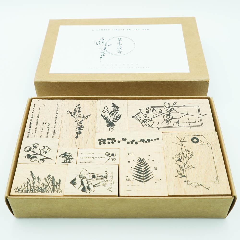 草花のスタンプ 草木成詩 YZ-516-001