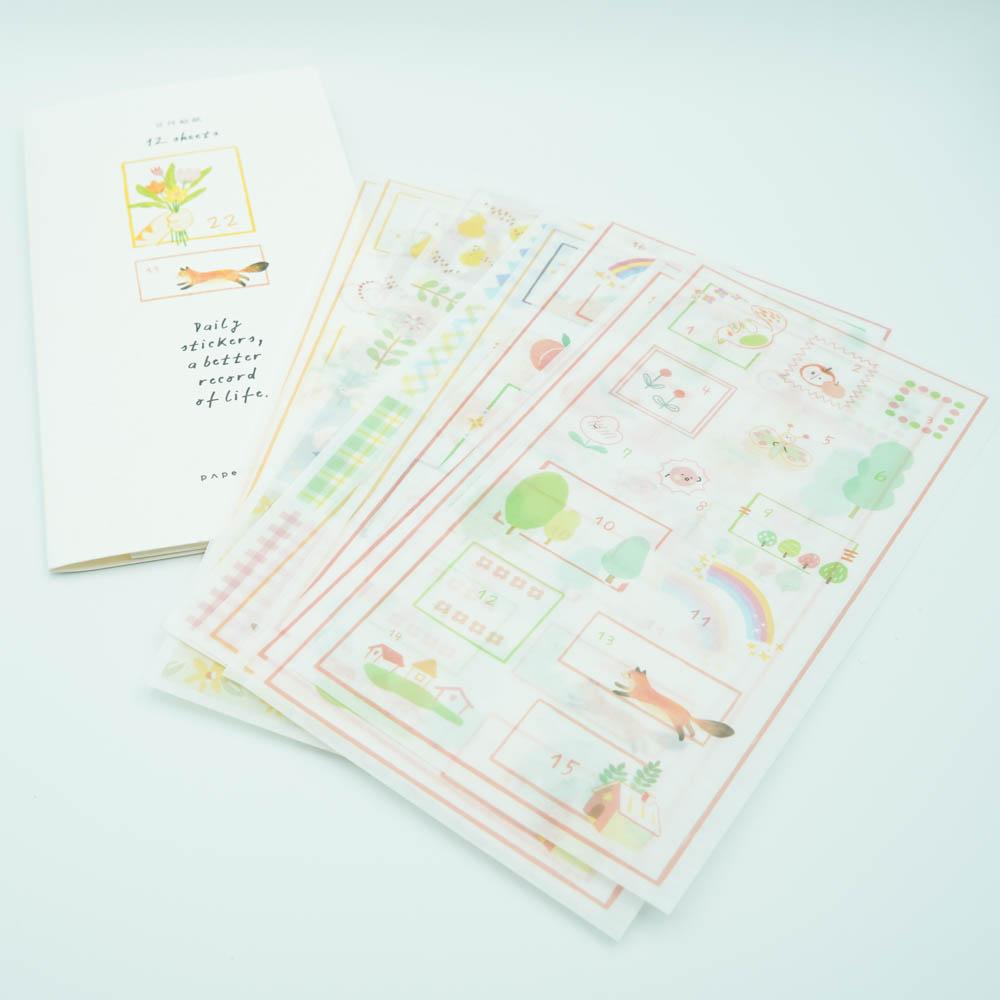 かわいいシール papermore 12sheets PMTS-5939