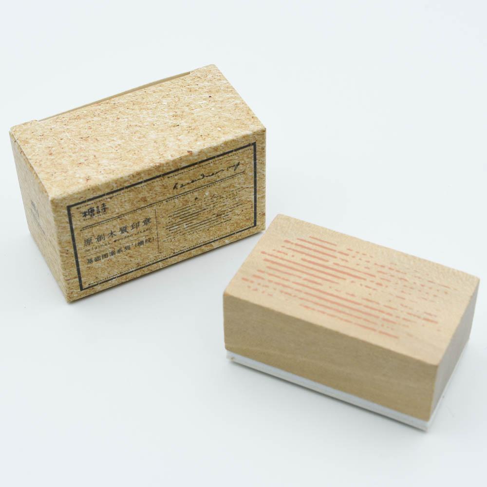 糖詩 WOODEN STAMP  横紋 TS06CZ006