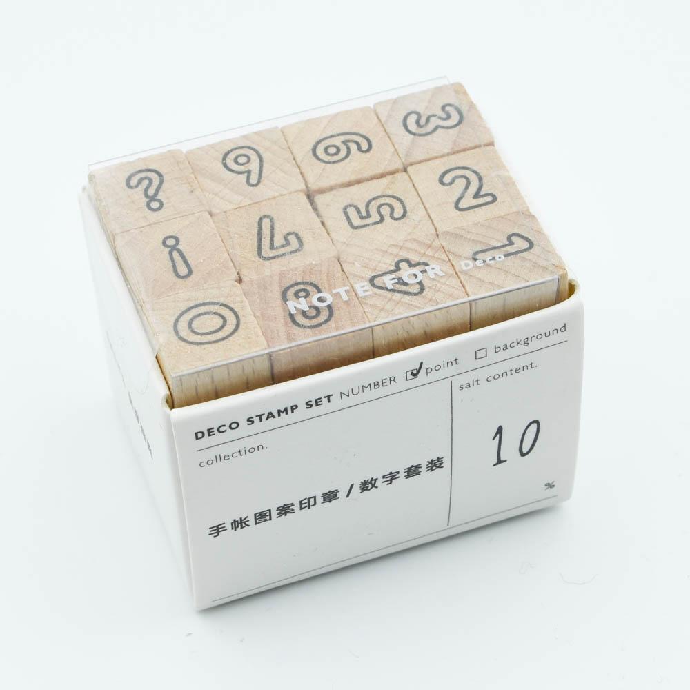 手帳に使えるスタンプセット NOTE FOR Deco 数字 12セット N-D1690
