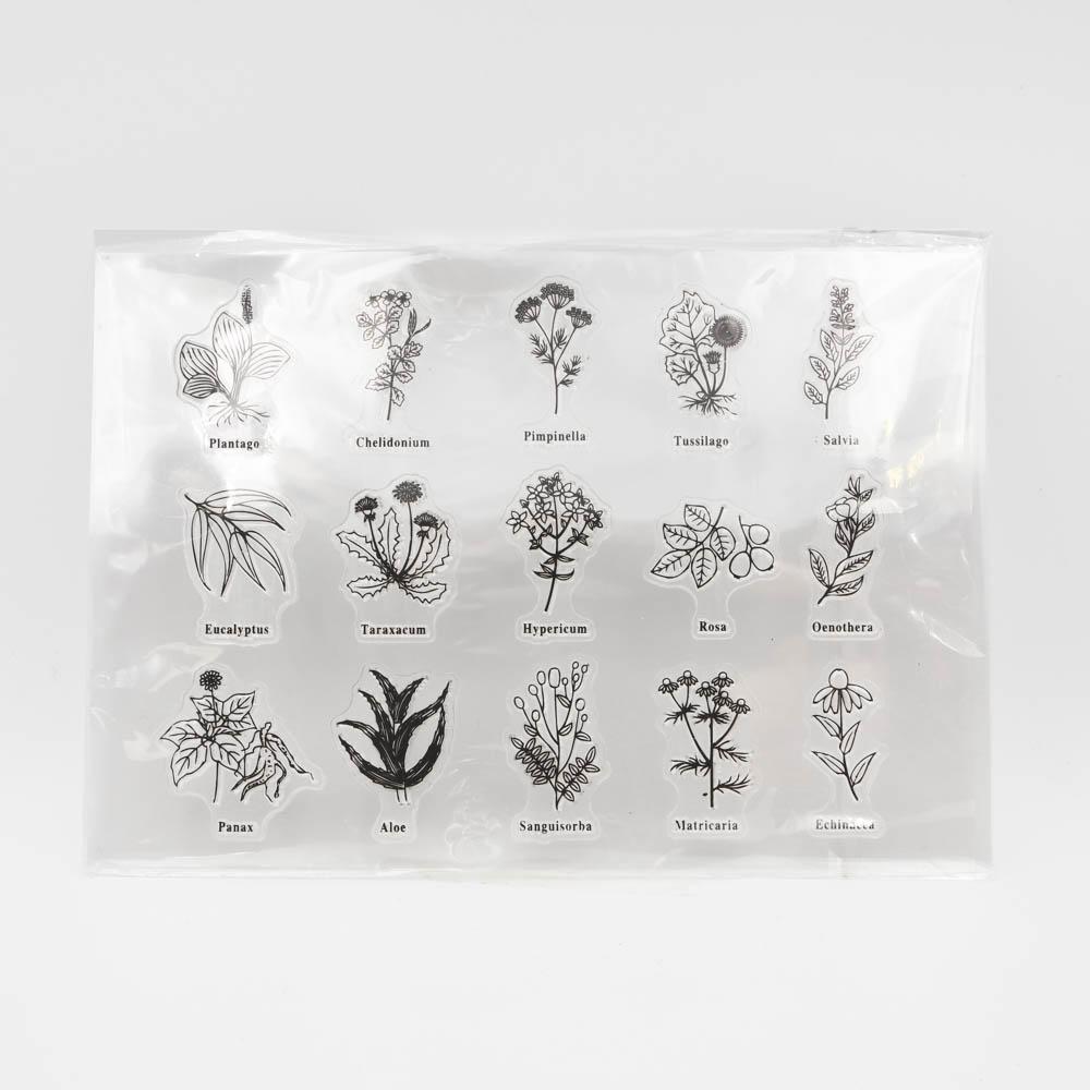 草花のクリアスタンプ