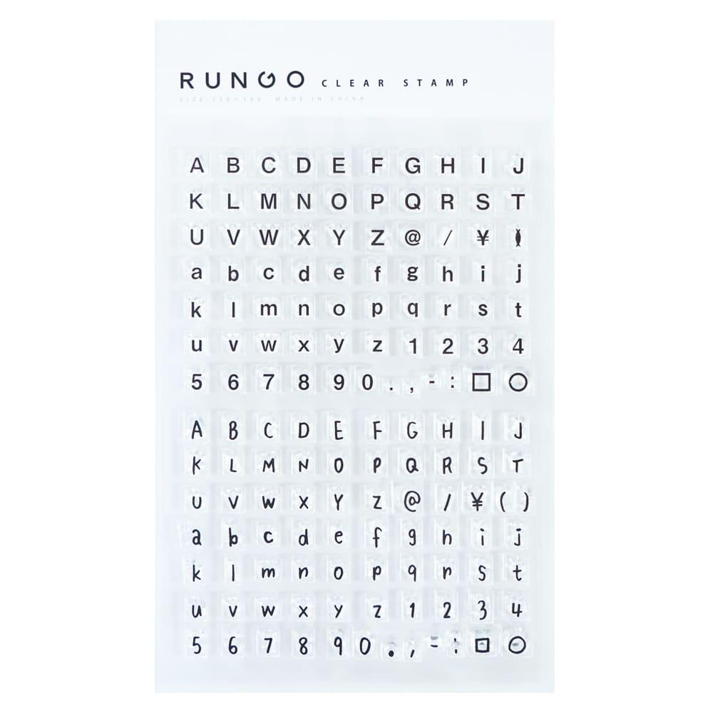【RUNGOオリジナル】クリアスタンプ・アルファベット rungo-200601