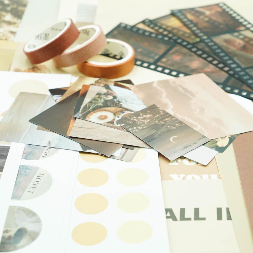 【サービス価格】素材紙セット MO・CARD ブラウン系