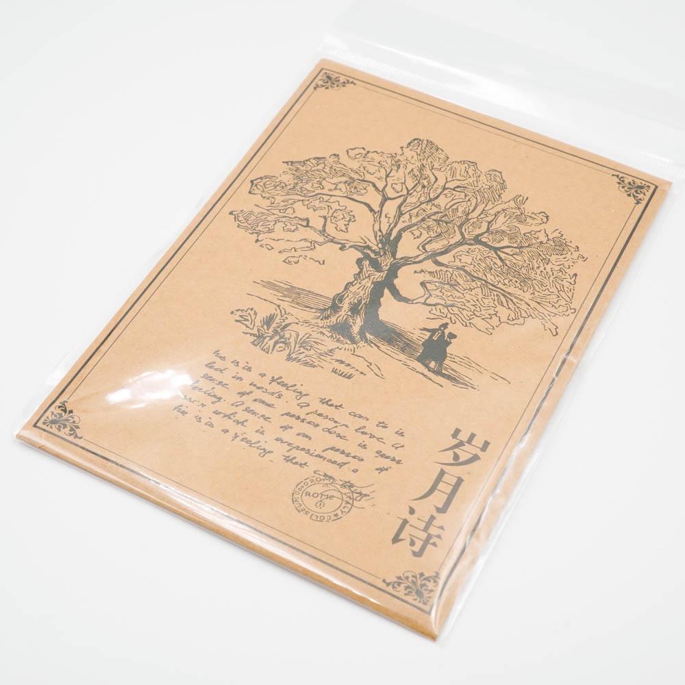 アンティークな素材紙 001
