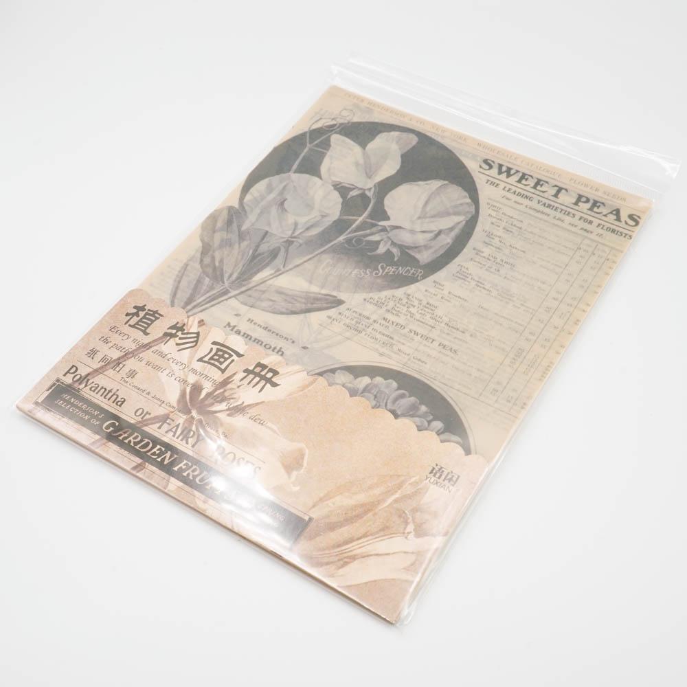 ヴィンテージな素材紙 YUXIAN 植物