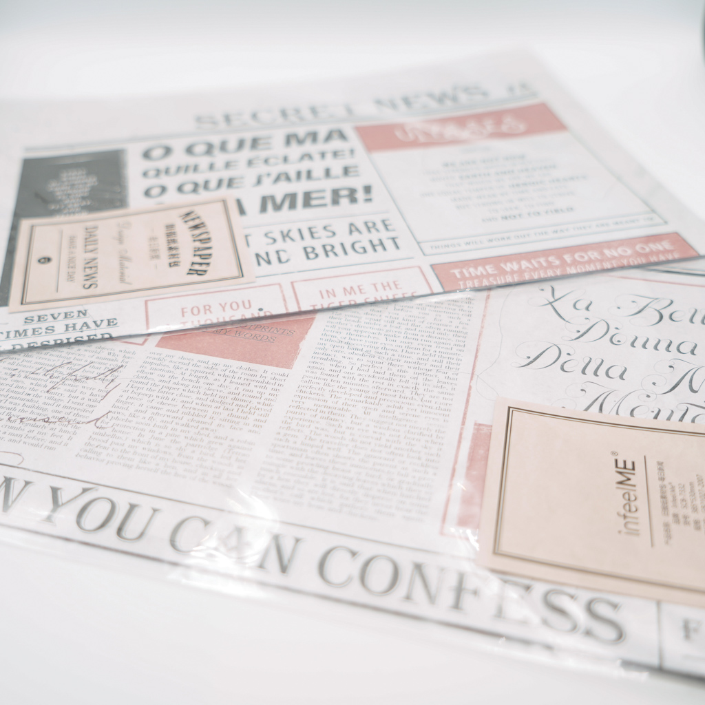【SALE】素材紙 infeelME Newspaper C
