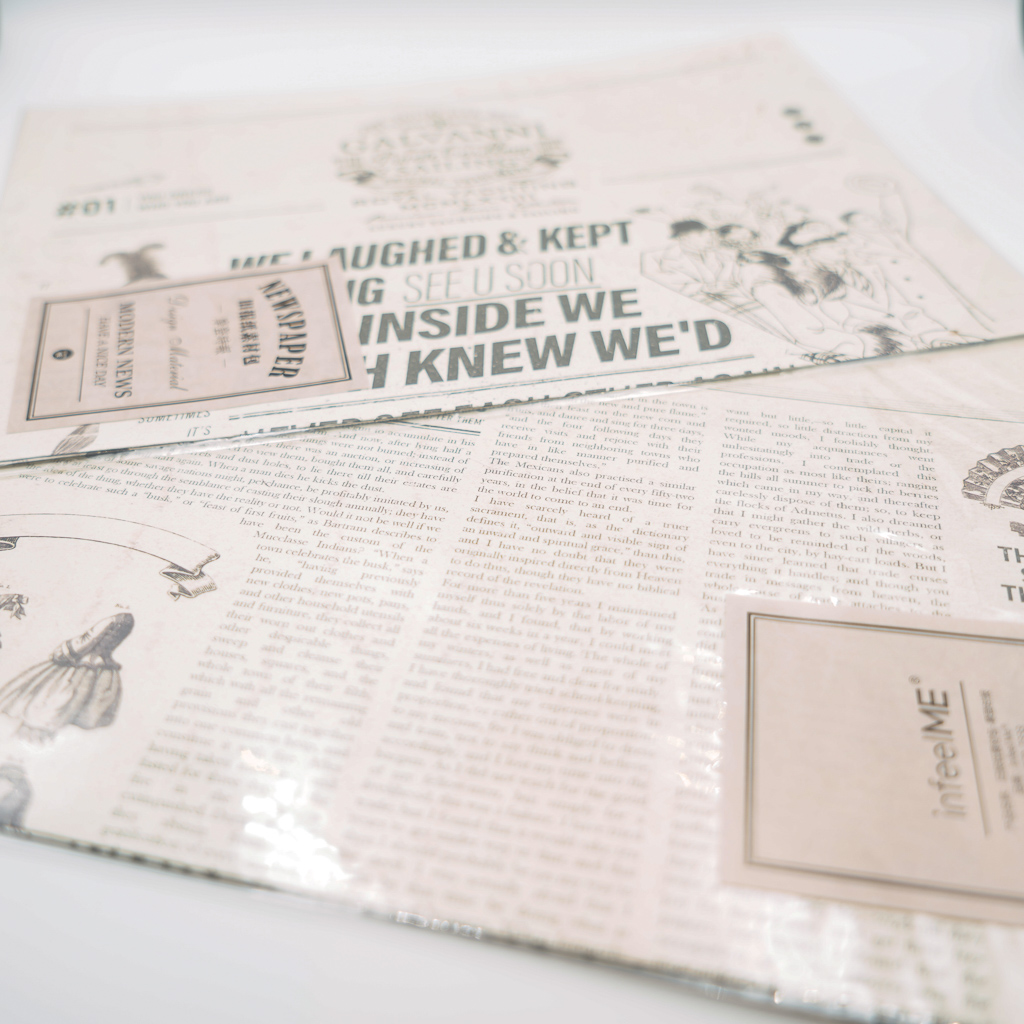【SALE】素材紙 infeelME Newspaper D