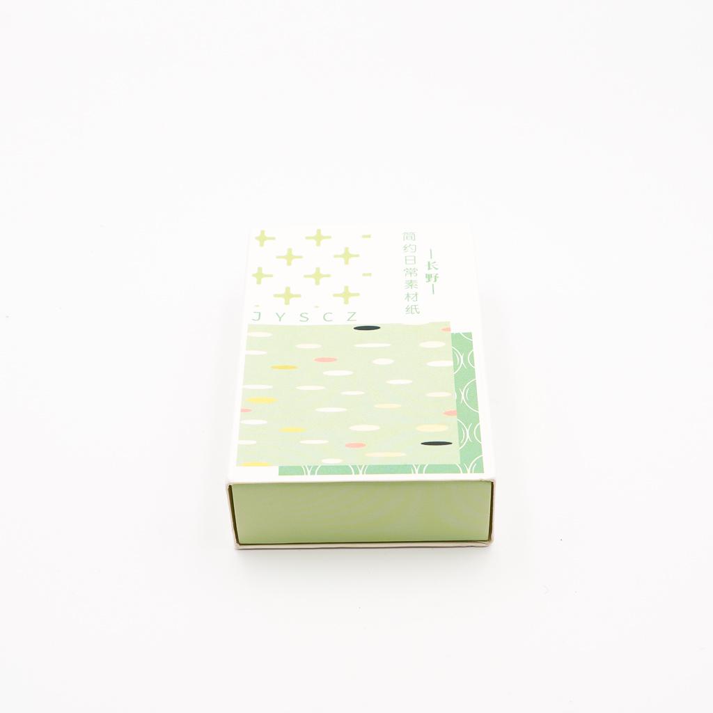 デザインペーパー BOX グリーン系