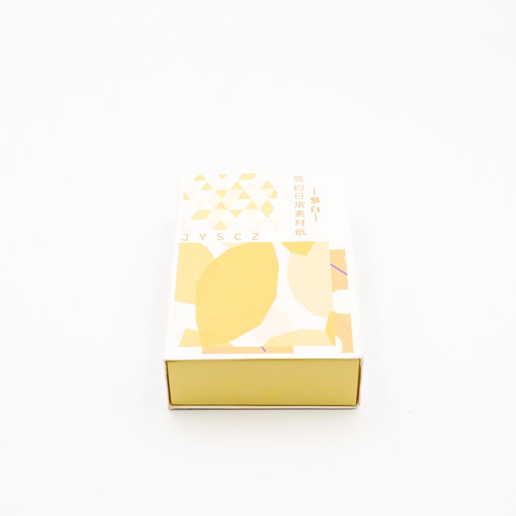 デザインペーパー BOX イエロー系