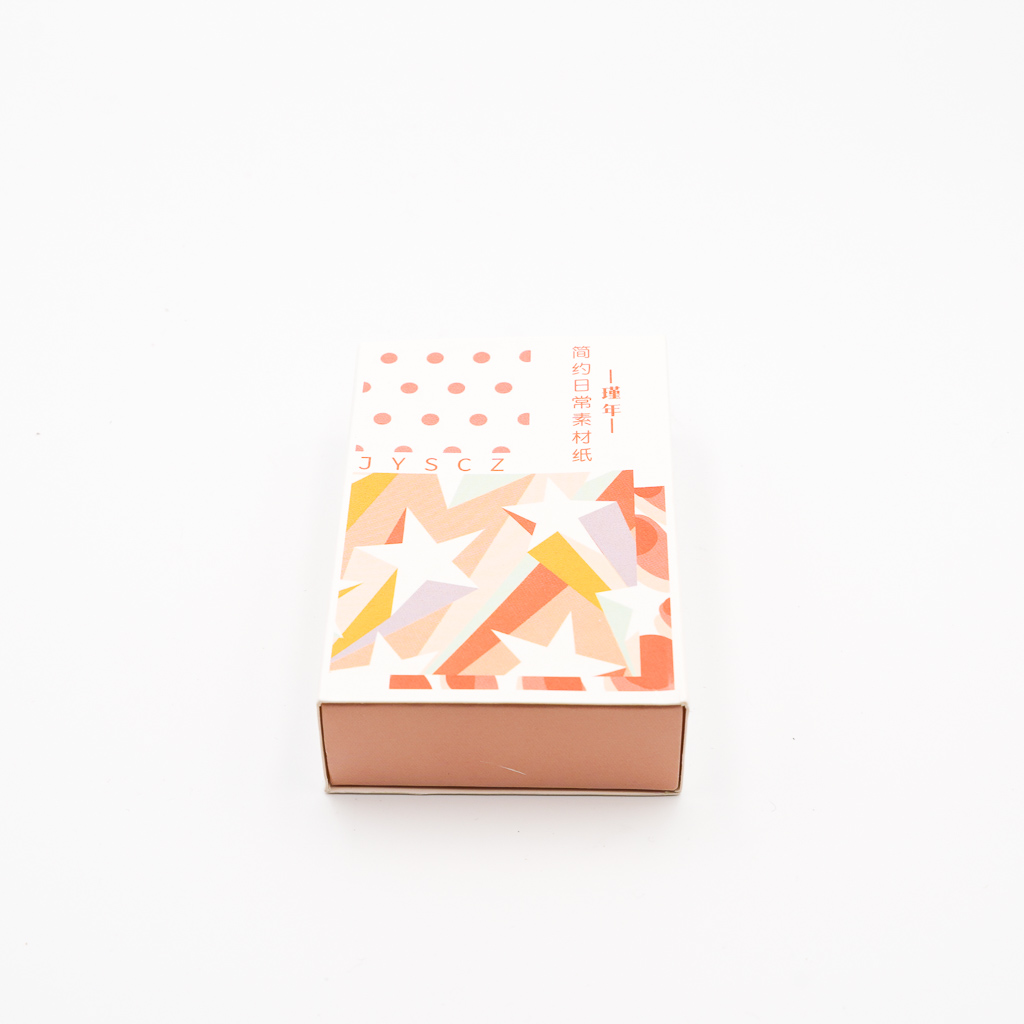 デザインペーパー BOX オレンジ系