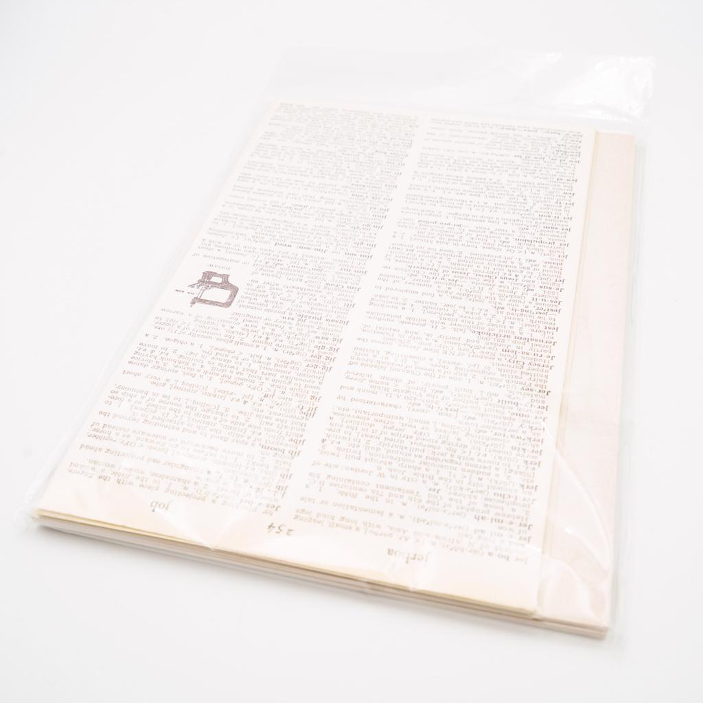 アンティークな素材紙・白色