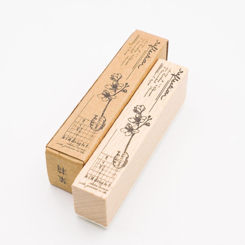 植物のスタンプ 茉莉