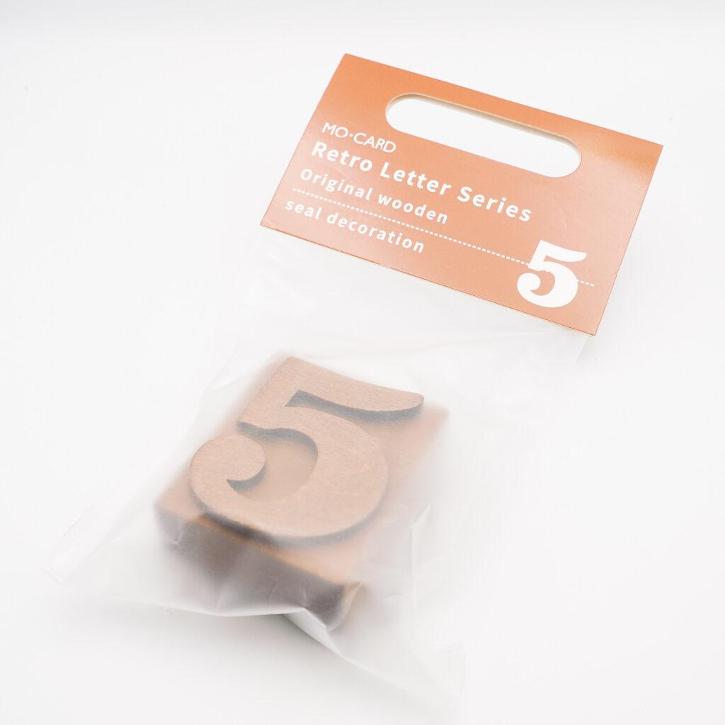 MO・CARD (陌墨)数字のスタンプ  5