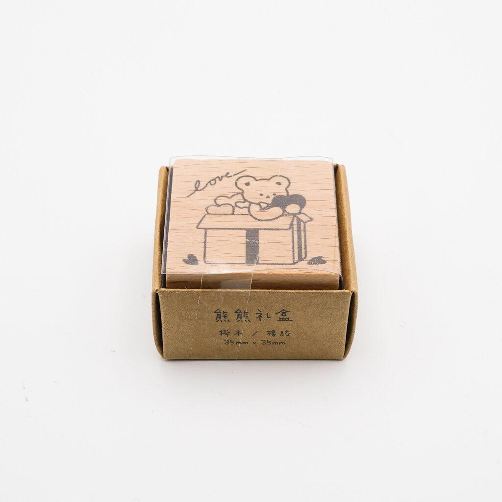 かわいいリボンのスタンプ 紙染  104