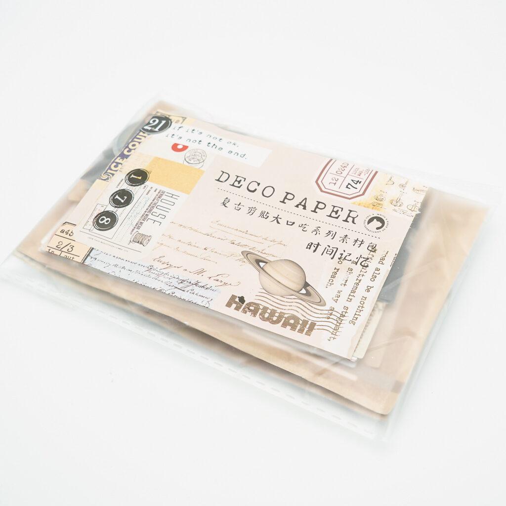 シール入アンティークタグ素材紙セット DECO PAPER 宇宙