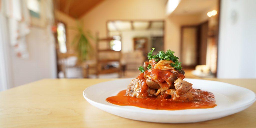 【vlog】岐阜フロンティア・ホームさんにて「鶏ときのこのトマト煮込み」