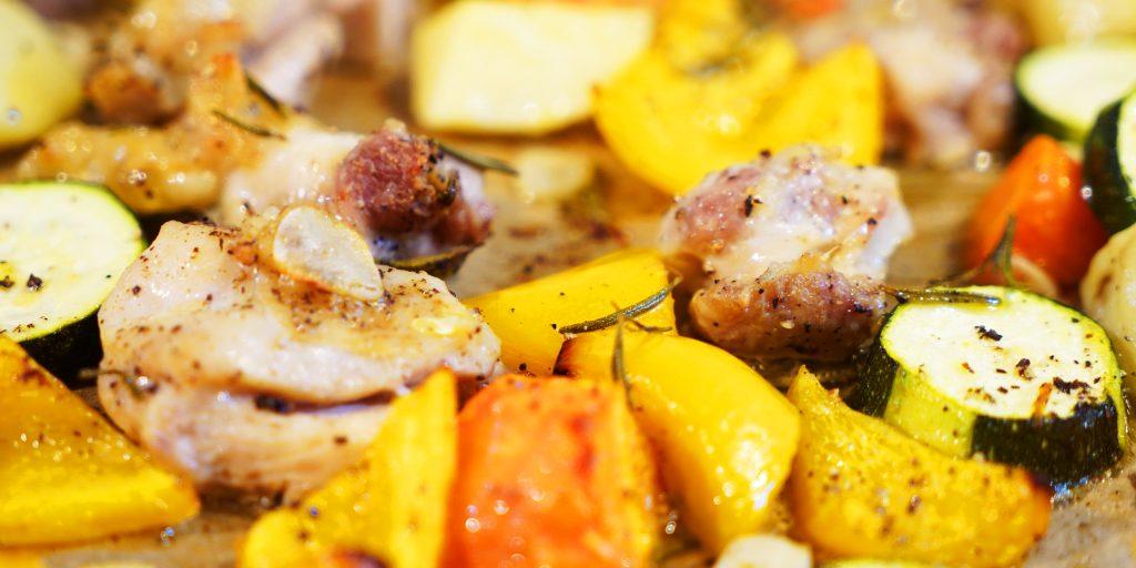 チキンと野菜のロースト ローズマリーの風味